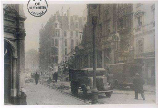 Photo:King Street, St James's, after the night raid of 24 September 1944